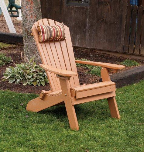 POLY Folding Reclining Adirondack Chair - Amish Made USA - Cedar