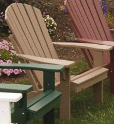 POLY Folding Reclining Adirondack Chair - Amish Made USA - Weather Wood
