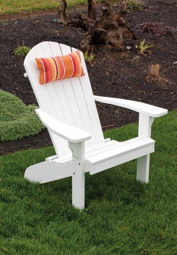 Poly Foldingamp Reclining Adirondack Chair - Amish Made Usa - Bright White