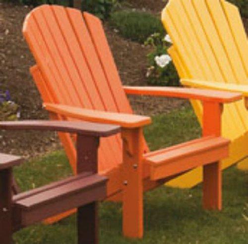 Poly Foldingamp Reclining Adirondack Chair - Amish Made Usa - Tangerine Orange