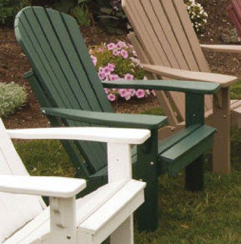 Poly Foldingamp Reclining Adirondack Chair - Amish Made Usa - Turf Green