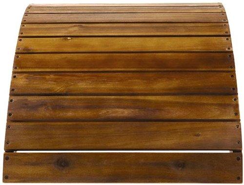 Acacia Wood Adirondack Ottoman 14H x 215W x 20D NATURAL TEAK