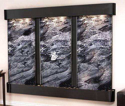 Adagio Dcfr1507 Deep Creek Falls - Black Spider Marble Wall Fountain