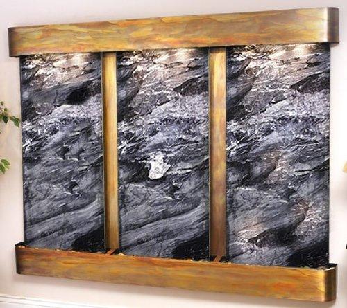 Adagio Deep Creek Falls Wall Fountain Black Spider Marble Rustic Copper - Dcfs10