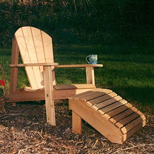 Creekvine Designs - Cedar Adirondack Chairamp Footrest Set