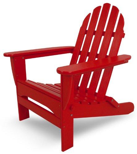 Polywood Ad5030sr Classic Folding Adirondack Sunset Red