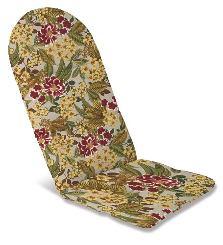 49&quot X 20-12&quot Weather-resistant Outdoor Classic Adirondack Cushion In Green Floral