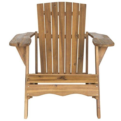 Safavieh Outdoor Collection Vista Adirondack Chair Teak Brown