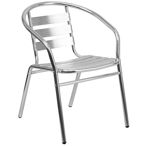 Aluminum Slat Back Indoor-Outdoor Restaurant Chair