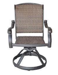 Santa Clara Cast Aluminum Powder Coated Set Of 2 Swivel Rocker Dining Chairs - Antique Bronze