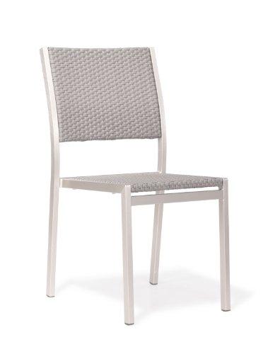 Zuo Outdoor Metropolitan Brushed Aluminum Dining Chair