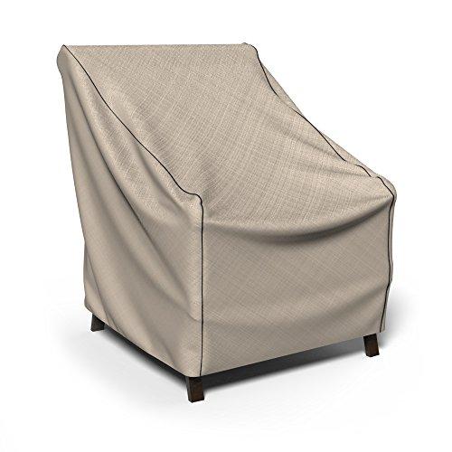 Budge English Garden Patio Chair Cover Medium Tan Tweed
