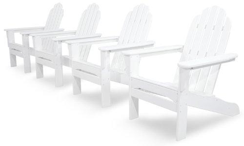 Ivy Terrace Ivs101-1-wh Classics 4-piece Adirondack Set White