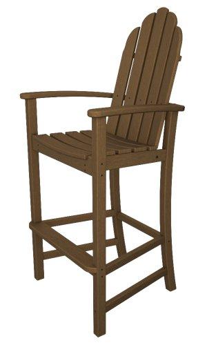 Polywood Adirondack Bar Height Chair Teak