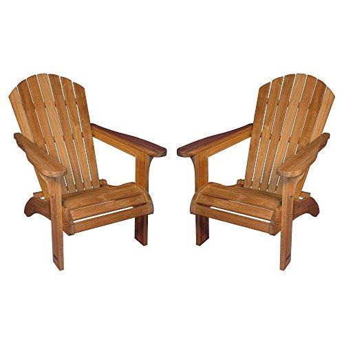 Regal Teak Adirondack Chairs - Set of 2