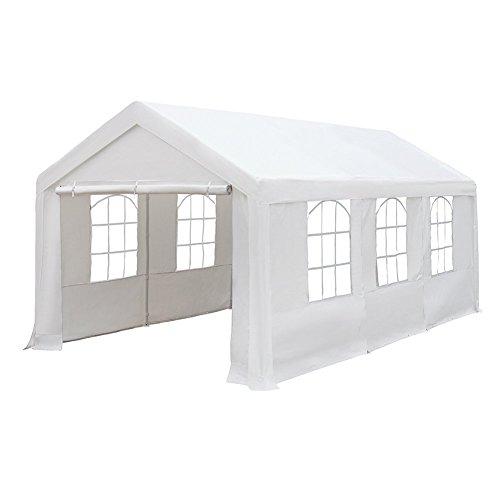 Abba Patio 10x20-feet Heavy Duty Outdoor Canopy Domain Carport Party Gazebo With Windows White