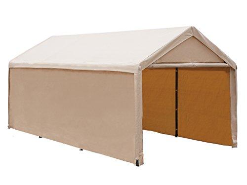 Abba Patio 10x20 ft Heavy Duty Beige Domain Carport Car Canopy Versatile Shelter with Sidewalls