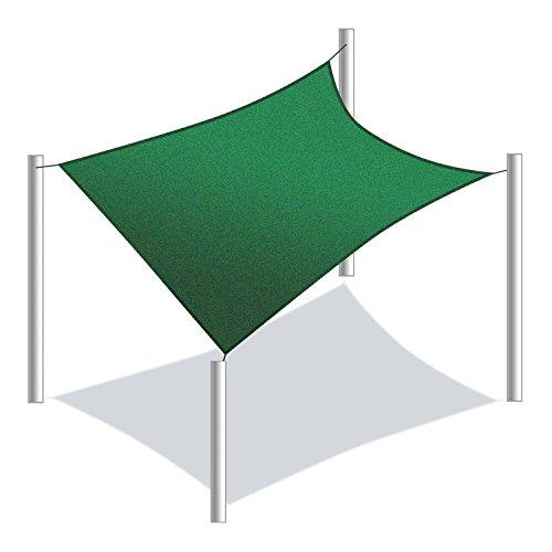 Aleko Square 10x10 Foot Sun Sail Shade Net Uv Block Fabric Patio Outdoor Canopy Sun Shelter Green