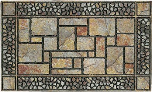 Mohawk Home 4259 12914 018030 Doorscapes Patio Stones Door Mat 16x26 16 x 26 Brown