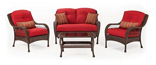 Bristol Patio Seating Set Scarlet Red 4 Piece by La-Z-Boy Outdoor