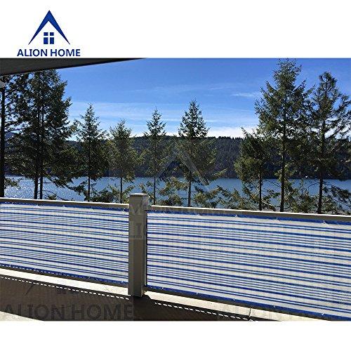 Alion Home Mediterranean Style Privacy Screen Mesh Windscreen For Backyard Deck Patio Balcony Pool Porch Railing