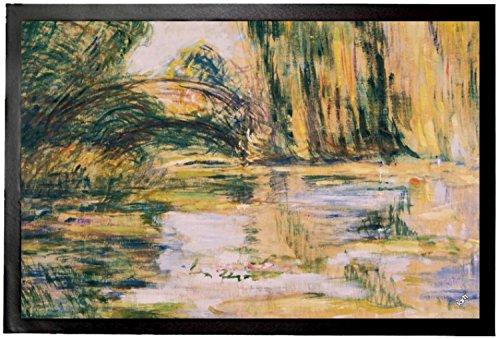 Claude Monet Door Mat Floor Mat - Waterlily Pond The Bridge 1899 24 X 16 Inches