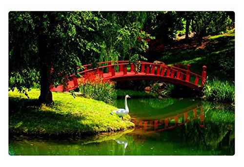 Irocket Indoor Floor Rugmat - Small Bridge Over The Green Pond 236 X 157 Inches