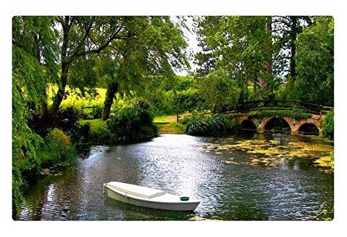 Irocket Indoor Floor Rugmat - Small Bridge Over The Pond 236 X 157 Inches