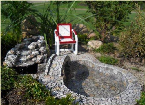 Miniature Fairy Garden Bridge Waterfall with Pond Pump