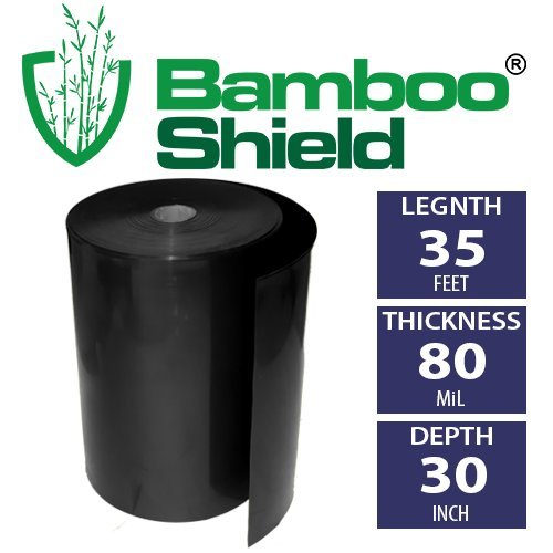 Bamboo Shield - 35 foot long x 30 inch wide 80mil bamboo root barrier  water barrier
