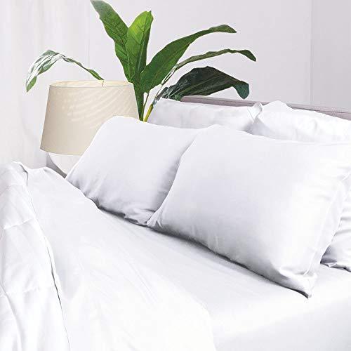 Aloha Soft Ulta Cooling Bamboo Sheet Set - White Queen