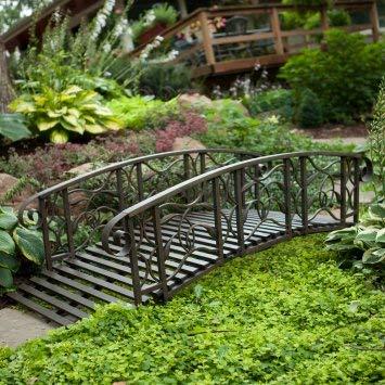 6-ft Metal Garden Bridge Willow Creek Lawn Furniture