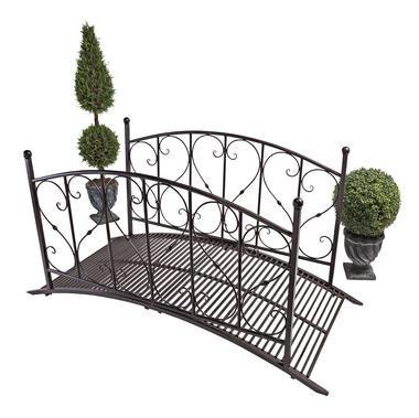 EttansPalace 72 Wide Inspirational Metal Garden Bridge