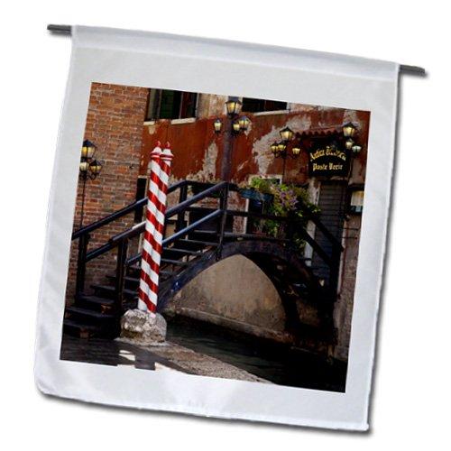 Danita Delimont - Venice - Footbridge over canal in Venice Italy - EU16 BJN0039 - Brian Jannsen - 18 x 27 inch Garden Flag fl_137537_2
