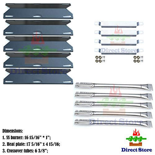 Direct store Parts Kit DG182 Replacement Charmglow 720-0396720-0578 Gas Grill BurnerCrossover TubeHeat Plate