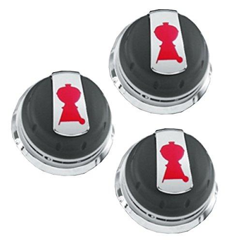 Weber Gas Grill Genesis Series Knob Set of 3 knobs 2011 Grills 88848