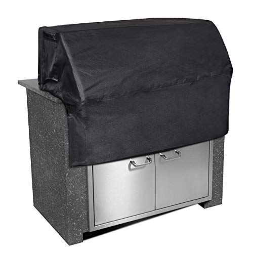 iCOVER 37 inch Built in Grill Cover Waterproof Heavyduty UV Resistant Built in Barbecue Grill Cover -37W × 27D × 24H