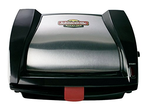 Johnsonville BTG0498 Sizzling Sausage Grill BlackStainless