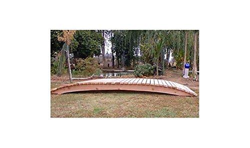 12 Ft Span Garden Bridge Hand Crafted In Solid Redwood 12 Ft No Post Bridge