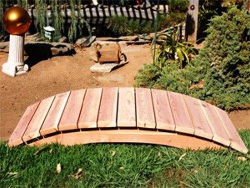 Emerson Redwood Garden Bridge Size - 6 feet