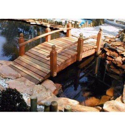 Whitehead Redwood Garden Bridge Size - 10 feet