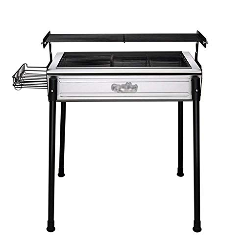 LAZ Charcoal Barbecue Cooker Portable BBQ Grill Home Outdoor Camping Picnics Grill Smokeless Patio Backyard Camping Cooking Grate for Steak Chicken