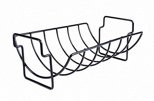 Charcoal Companion Non-stick Reversible Roasting  Rib Rack - Cc3001