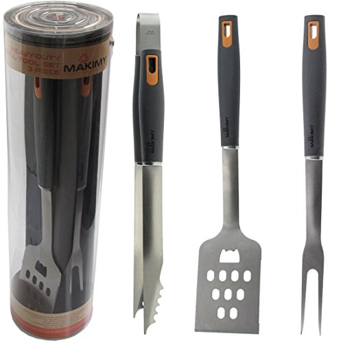 Makimy 3-piece Bbq Tool Set - Gift Box - Best Value Grill Accessories Professional-grade Heavy Duty Extra Strong
