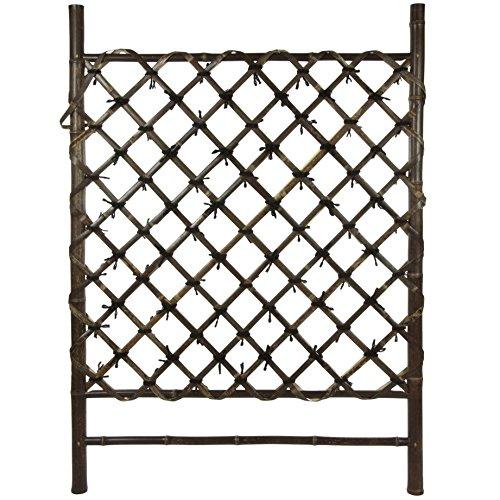 Oriental Furniture Dark Stained Japanese Style Garden Trellis