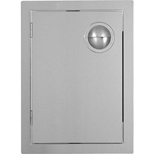 Bbqguyscom Portofino Series 17-inch Stainless Steel Left-hinged Single Access Door - Vertical