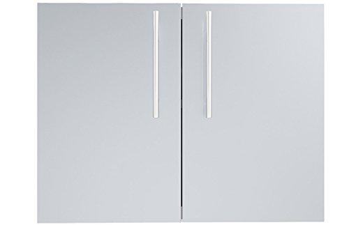 SUNSTONE DE-DD30 Designer Series Raised Style Double Door with Shelves 30 Stainless Steel