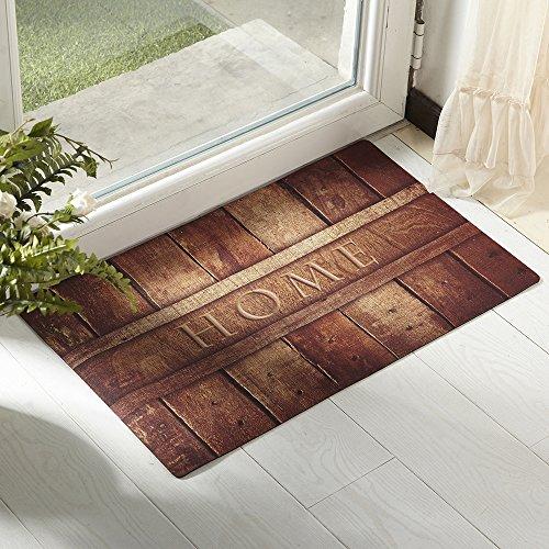 Amagebeli 18&quot X 30&quot Home Indoor Door Mat Non-slip Printing Doormat Wood Rug Carpet Entrance Floor Mats