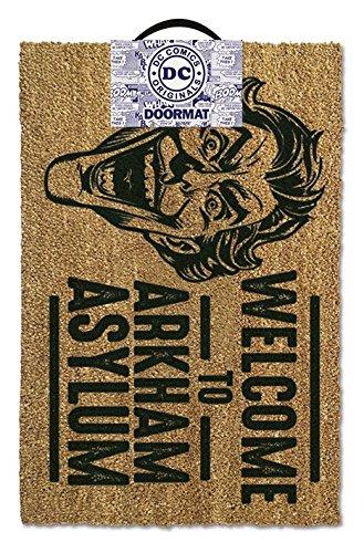 Batman - Door  Floor Mat Size 24 x 16 Doormat Welcome To Arkham Asylum