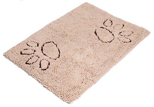 BirdRock Home 26 x 36 Dog Doormat  Absorbent Surface  Non-Skid Bottom  Protects Floors Tan